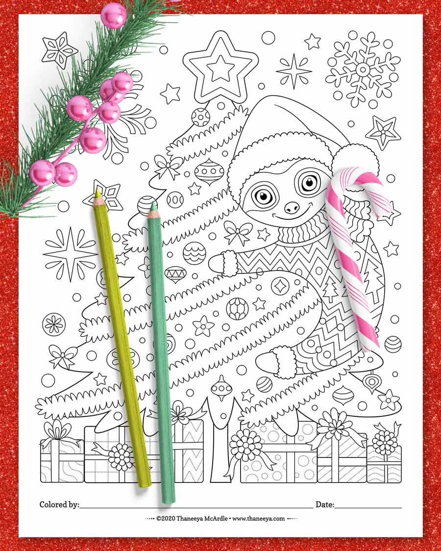 Christmas Animals Coloring Pages Printable Christmas Coloring Pages For All Ages Art Is Fun