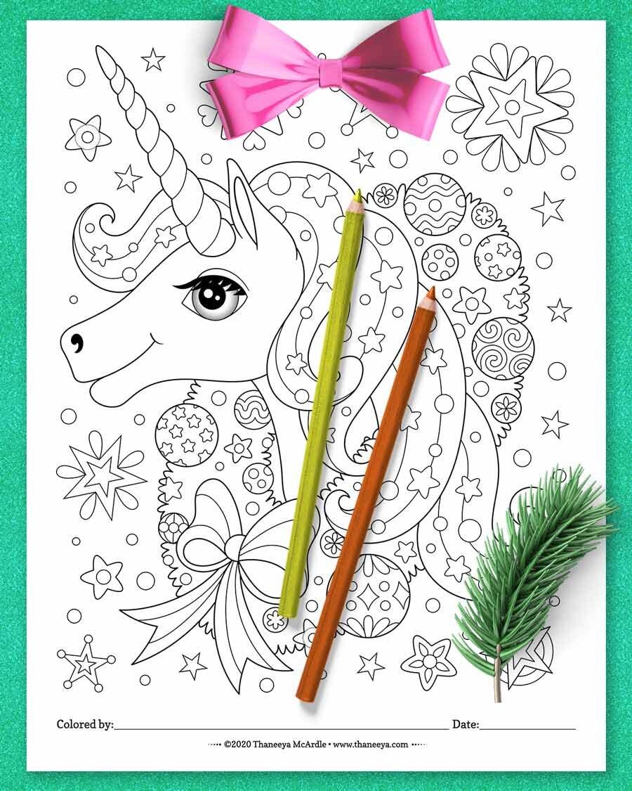 圣诞独角兽着色页从Thaneeya麦betway必威官网app卡德尔的10印刷圣诞动物着色页必威西蒙体育 欧盟体育