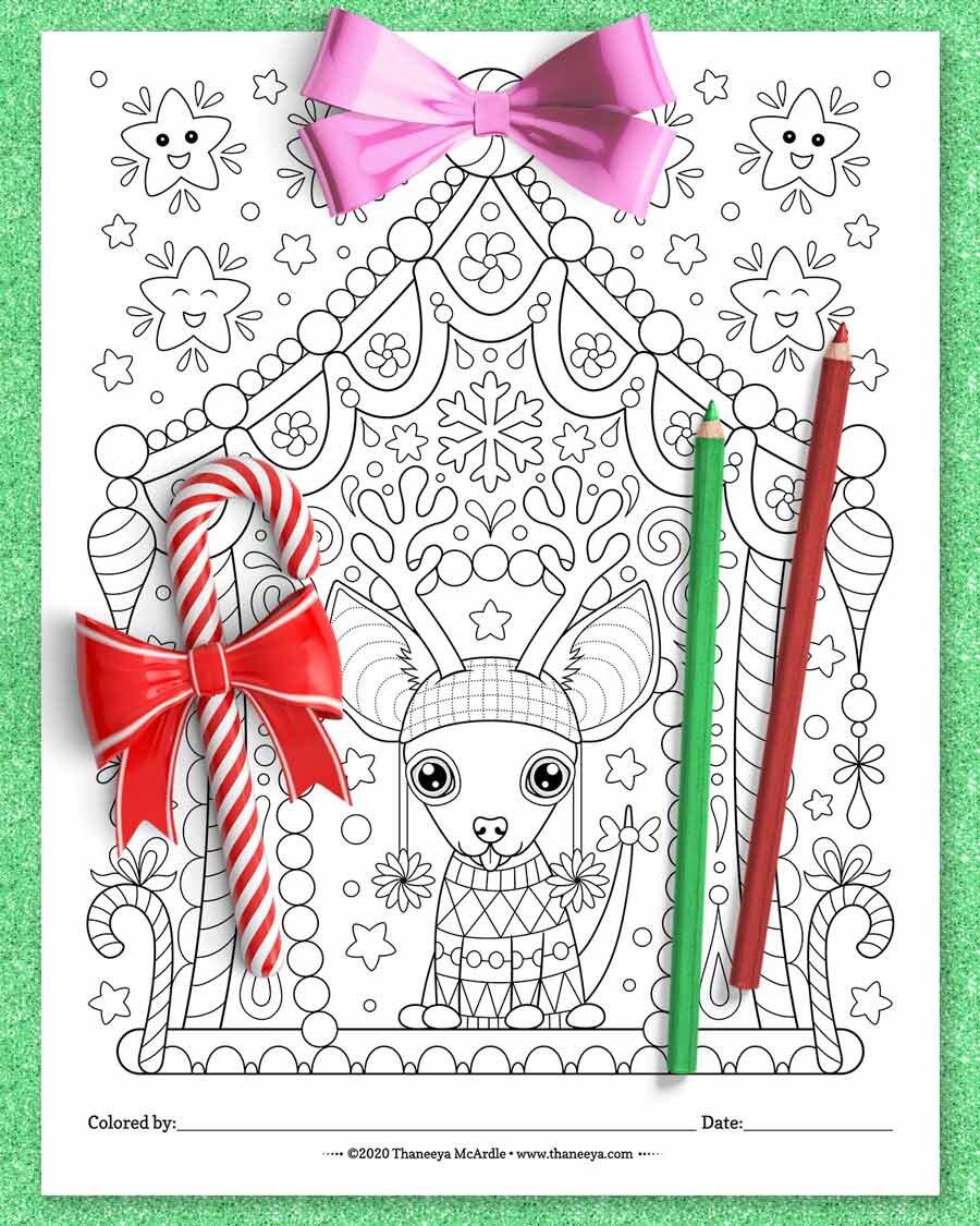 圣诞节奇瓦瓦州着色页从缅因达Mcardlbetway必威官网appe的10种印刷圣诞动物着色页必威西蒙体育 欧盟体育