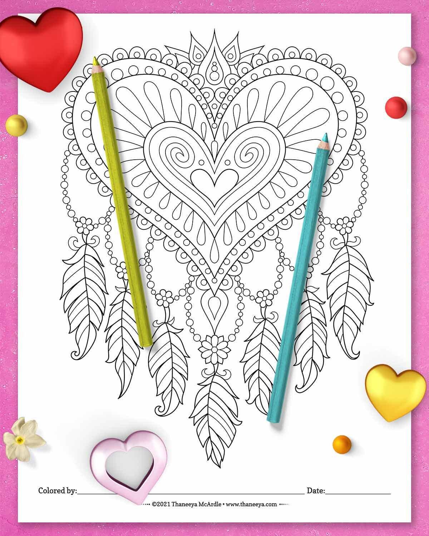Thaneeya的Heart Drea18luck世界杯买球mcatcher着色页