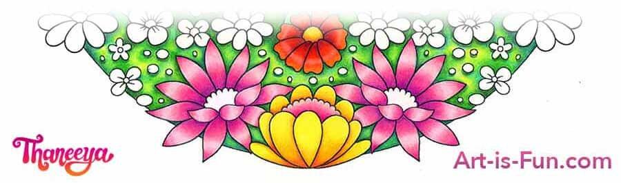 花彩色铅笔教程