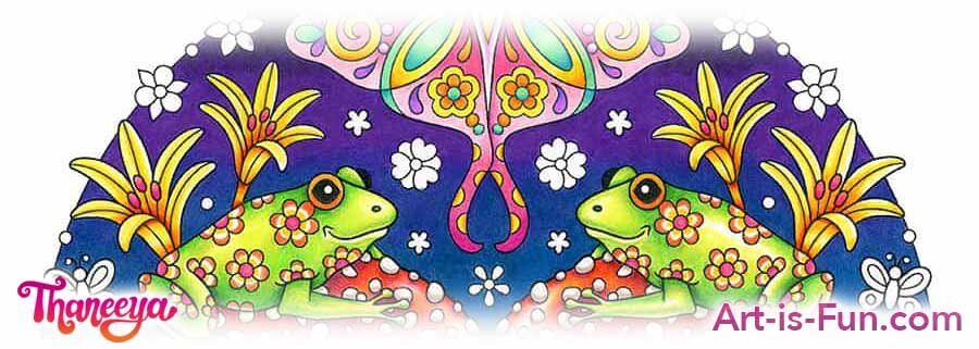 青蛙和鲜花逐步着色页面教程by thaneeya mcardlbetway必威官网appe必威西蒙体育 欧盟体育