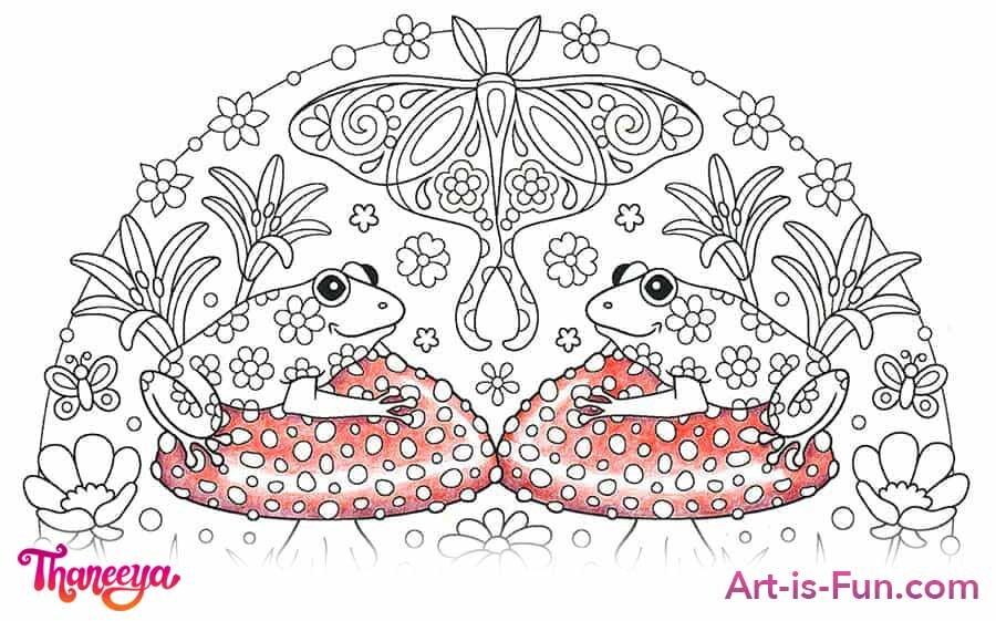 蘑菇彩色铅笔着色教程betway必威官网app
