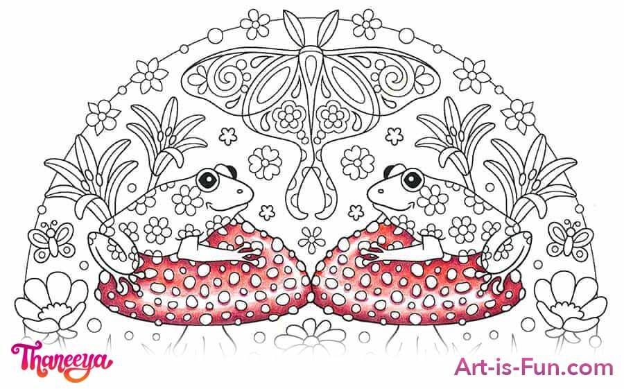 红蘑菇彩色铅笔着色教程betway必威官网app