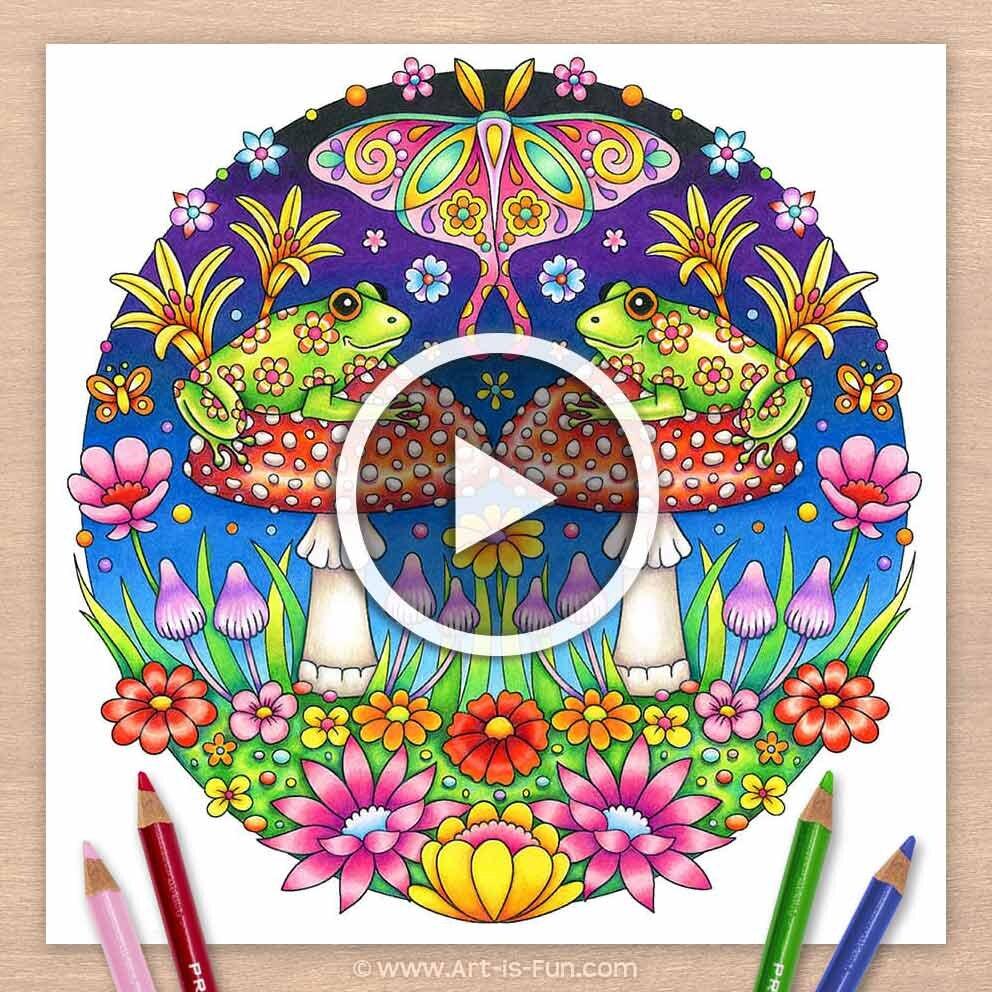 一步一步的彩色铅笔教程由Thaneeya McArdle新利18在线娱乐