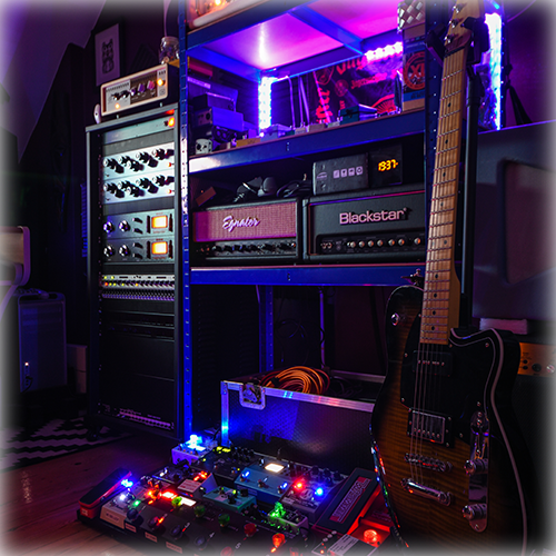 Neon - because who doesn't love neon? A quick look at amps, pedals, outboard compressors and EQs. My London based recording studio; perfect for tracking, production, mixing and mastering.