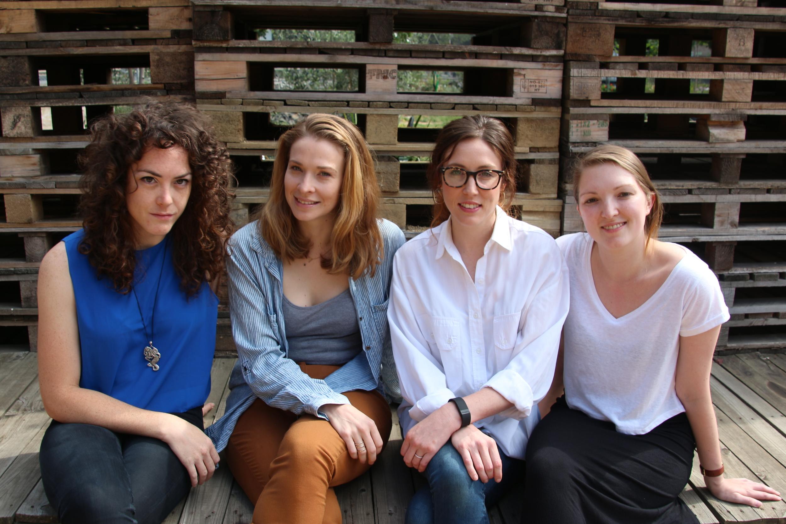 Crestfall actors Freya, Marissa O and Marissa B with director Jayde