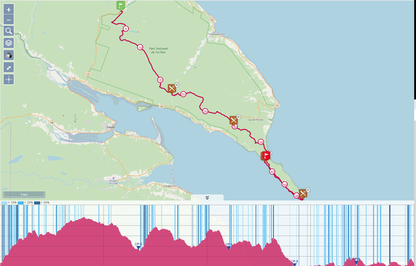 The Ultra-Trail du Bout du Monde Enduro Force 53km route