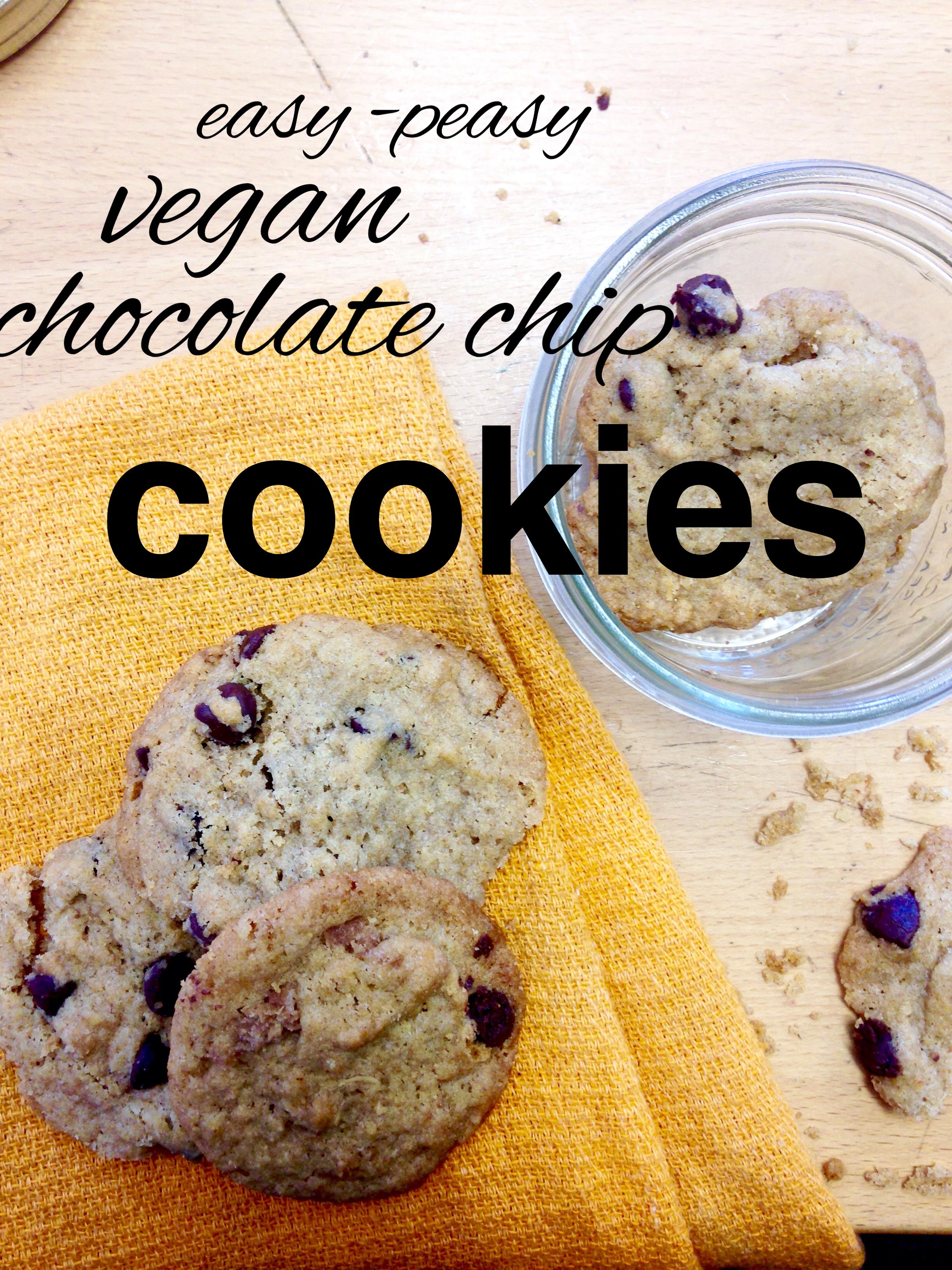 Vegan, zero waste, chocolate chip cookies from www.goingzerowaste.com