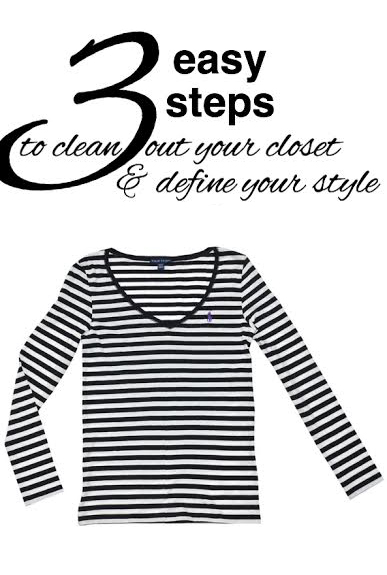 Three easy steps to clean out your closet and define your style from www.goingzerowaste.com