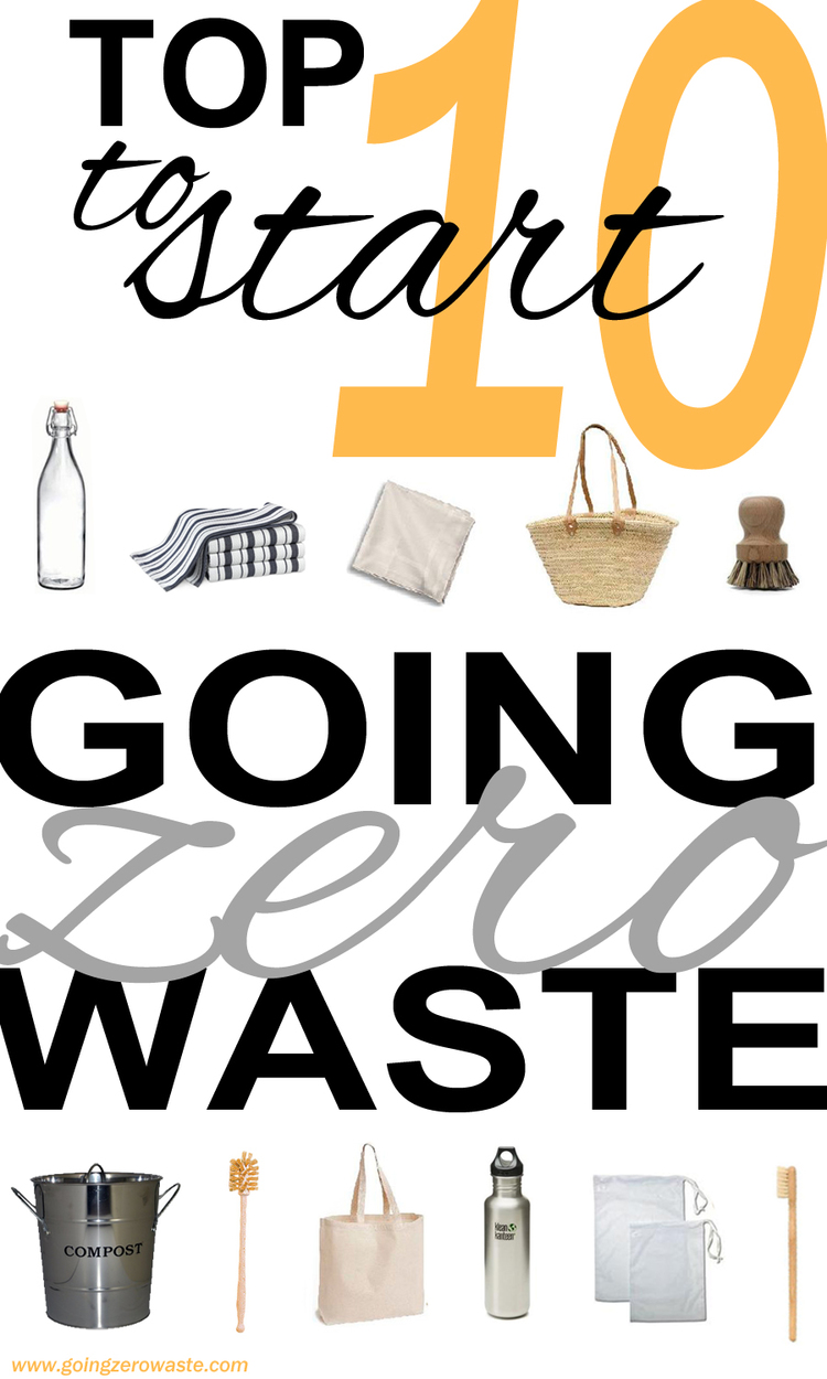 10 easy steps to reduce your waste! Go zero waste to save money and lessen your impact with a few tips from www.goingzerowaste.com