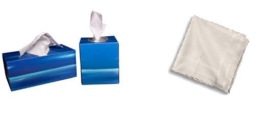 Reduce your waste! Swap disposable tissues for handkerchiefs. www.goingzerowaste.com