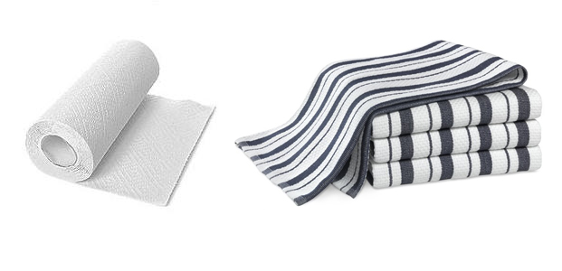 Reduce your waste! Swap paper towels for rags and dish towels. Better for the planet and your wallet. www.goingzerowaste.com