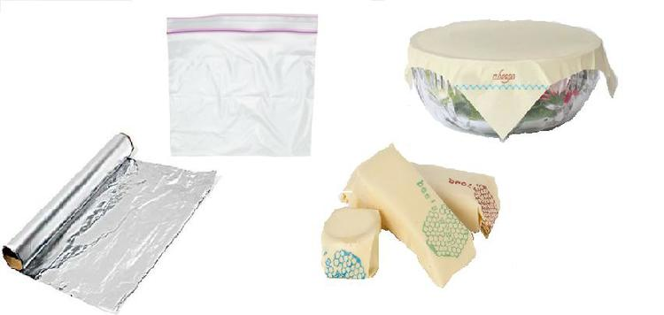 Zero Waste Swap 9: Leave aluminum foil and single use plastic bags behind. Wrap sandwiches in clothe napkins or cover bowls and cheese with bees wax wraps. www.goingzerowaste.com