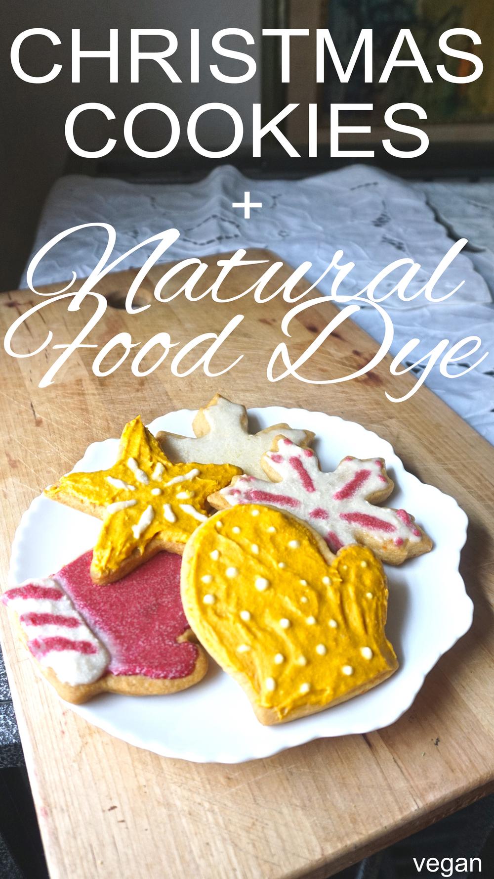 SUGAR COOKIES WITH NATURAL FOOD DYE