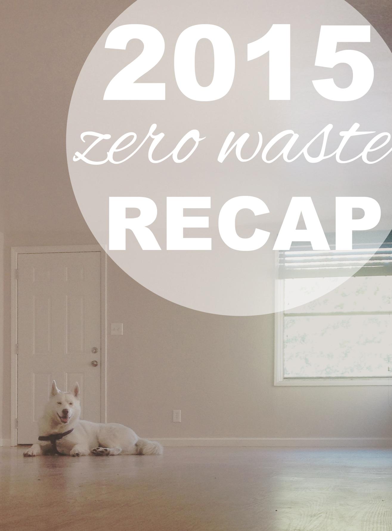 A 2015 Recap with Going Zero Waste!