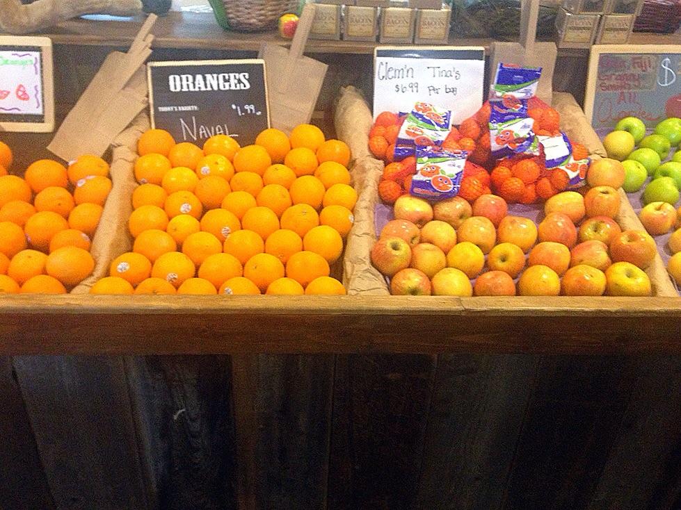 Tons of fresh fruit