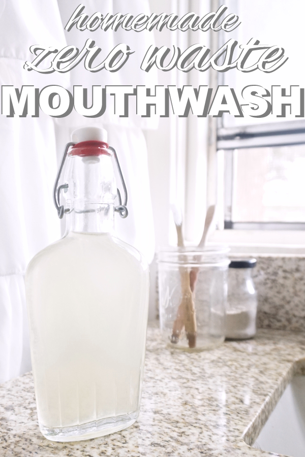 learn how to make homemade, zero waste mouthwash with www.goingzerowaste.com
