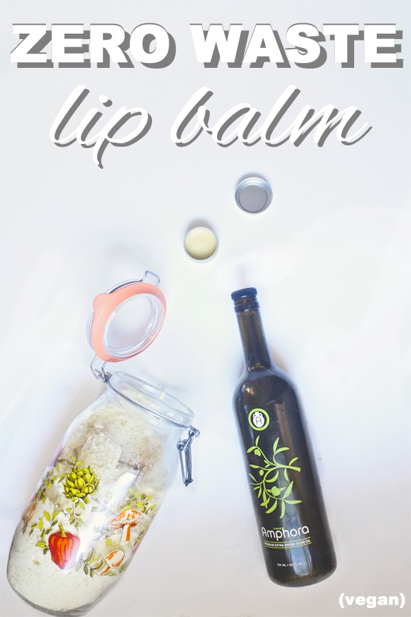 Learn how to make vegan, zero waste, lip balm with www.goingzerowaste.com