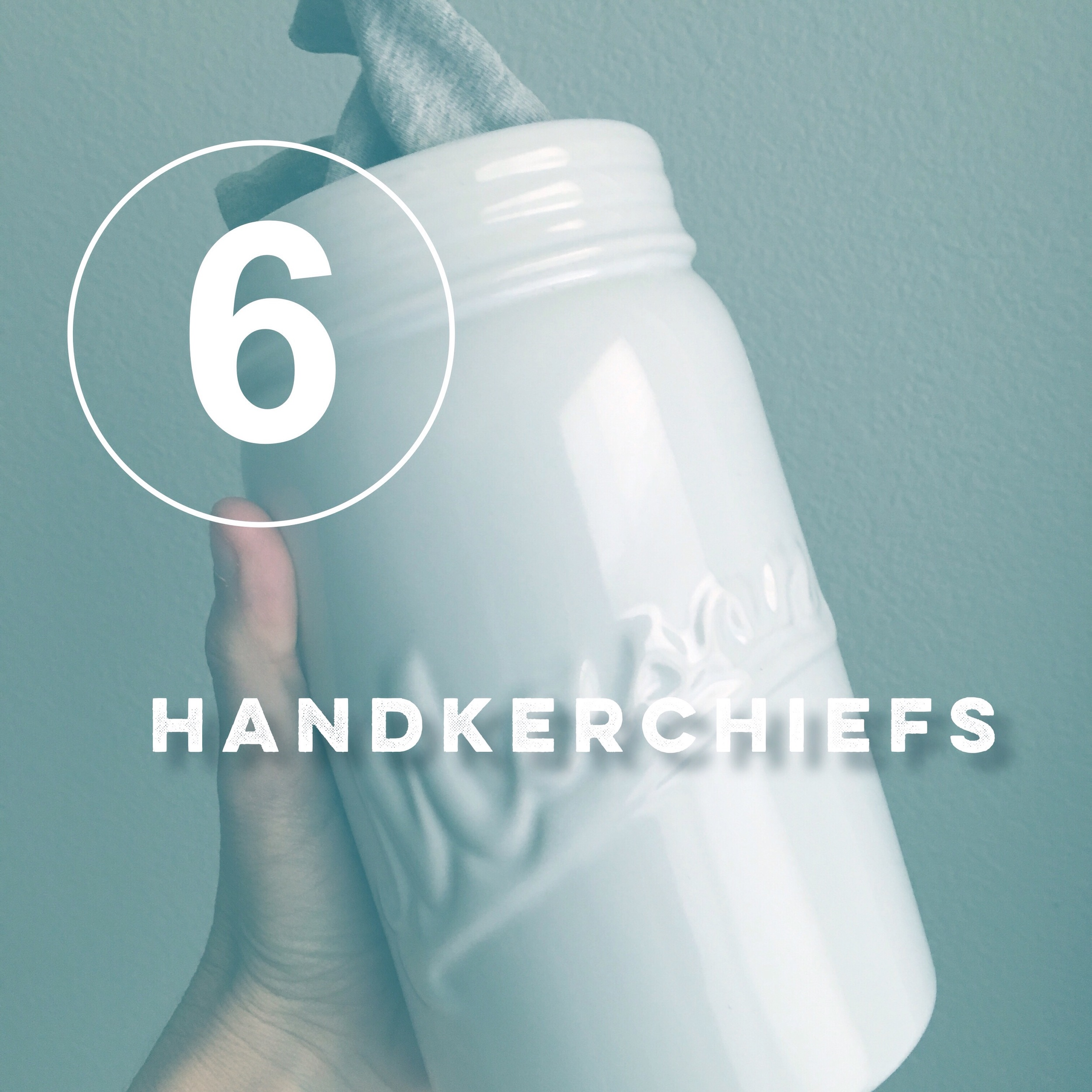 Day six of the zero waste challenge! Use a handkerchief and say goodbye to a chapped nose!