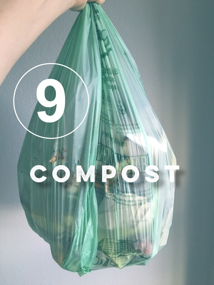 Day 9 of the zero waste challenge! Get your compost on!