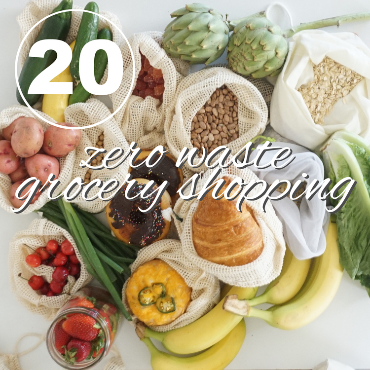 Day 20 of the Zero Waste Challenge! Learn more about creating less trash from going to grocery store with www.goingzerowaste.com