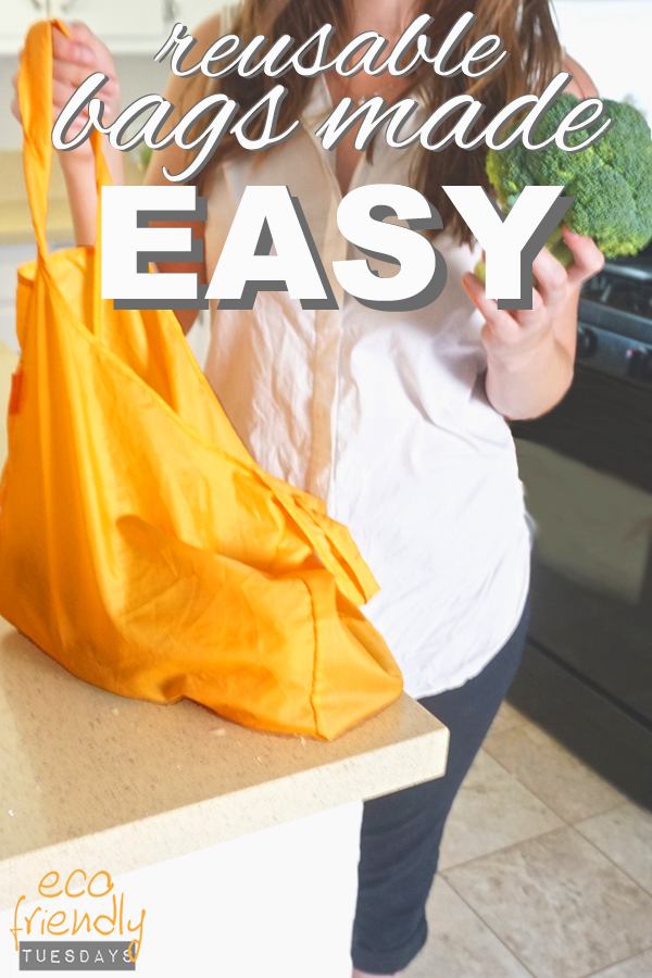 Reusable bags made easy plus 3 tips to help you remember to bring them with you to the store from www.goingzerowaste.com