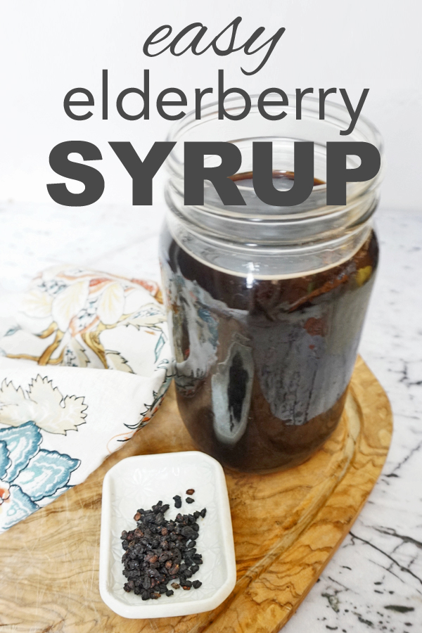 Learn to make an easy immune boosting syrup. It's an easy plastic free/zero waste solution to help knock out cold and flu symptoms. www.goingzerowaste.com