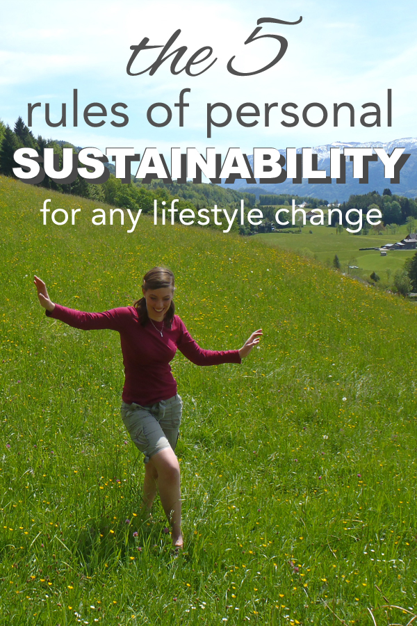 The five rules of personal sustainability by www.goingzerowaste.com