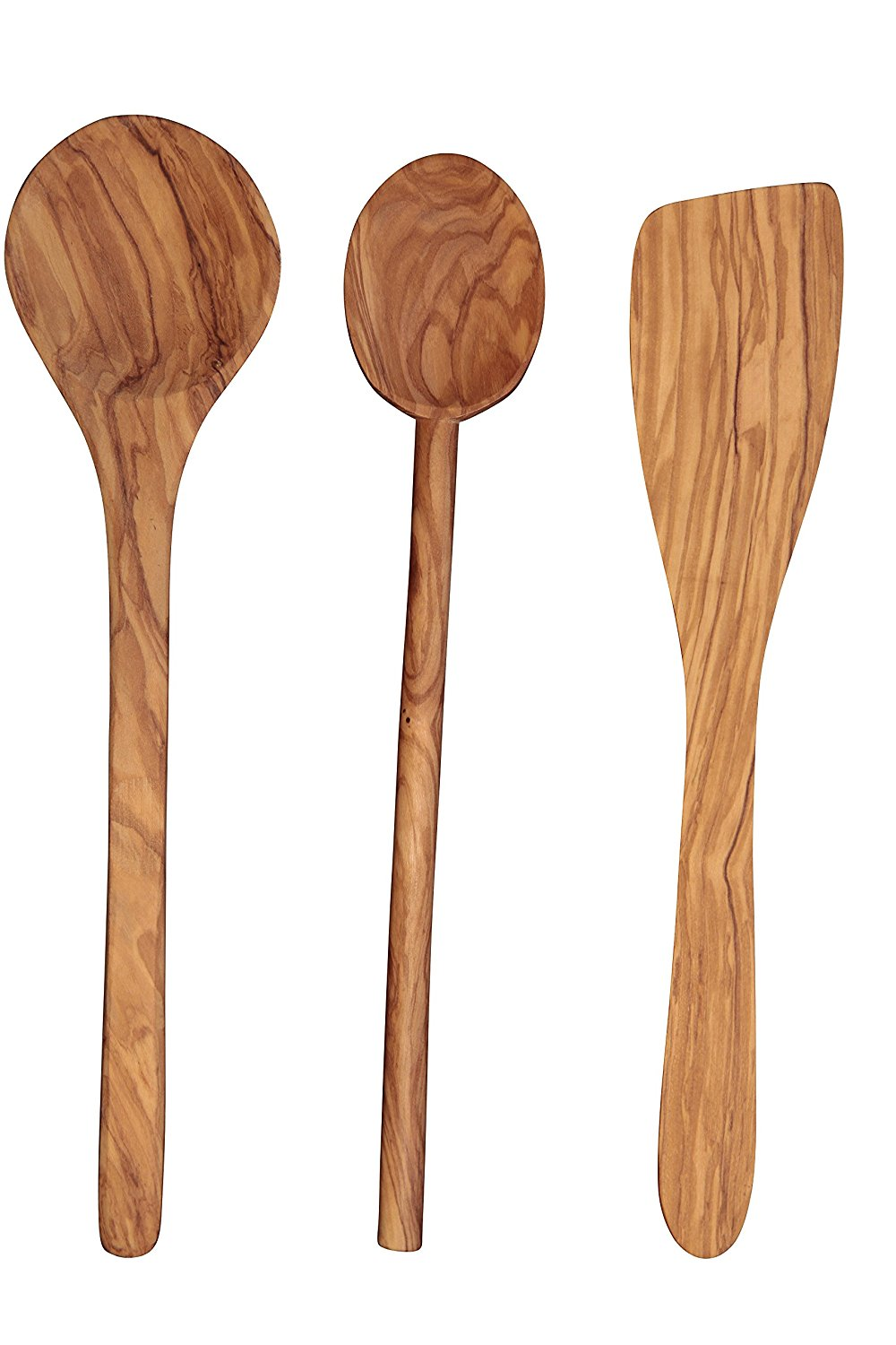 Olive wood is my favorite for spoons and such. I just find it to be beautiful. Justin gave me olive wood spoons for Valentines several years ago and they're still my favorite!