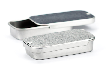 I use stainless steel tins for all types of things like  chapstick ,  lip balm ,  eyeliner  etc. It's very handy to have a couple of these on hand if you're making your own beauty products.