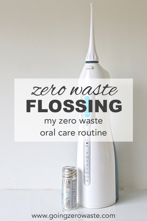 Zero waste flossing and a look into my zero waste oral care routine from www.goingzerowaste.com