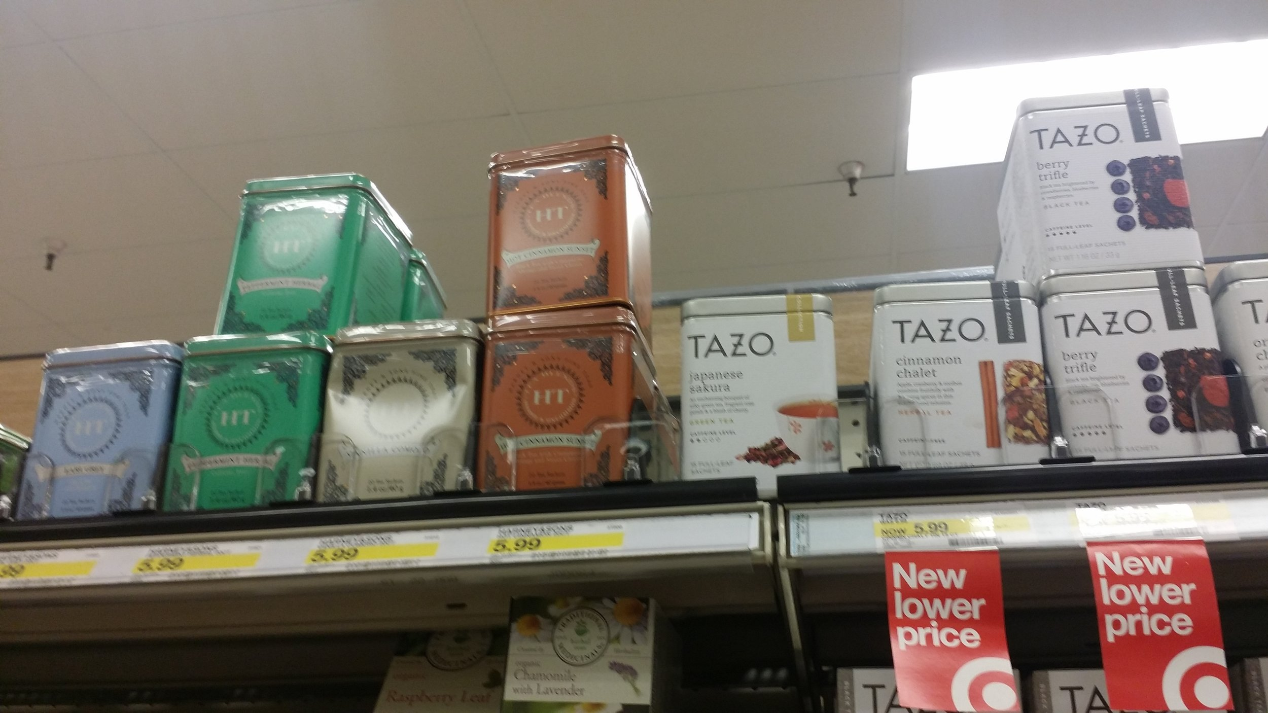 I was surprised to see loose leaf tea tins. The tea most likely is wrapped in plastic on the inside. But, it's way less plastic than individually wrapped tea bags. Most of which have plastic in the tea bag itself making them unable to compost.