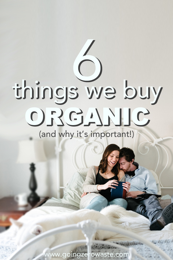 Six things we buy organic and why it's important from www.goingzerowaste.com
