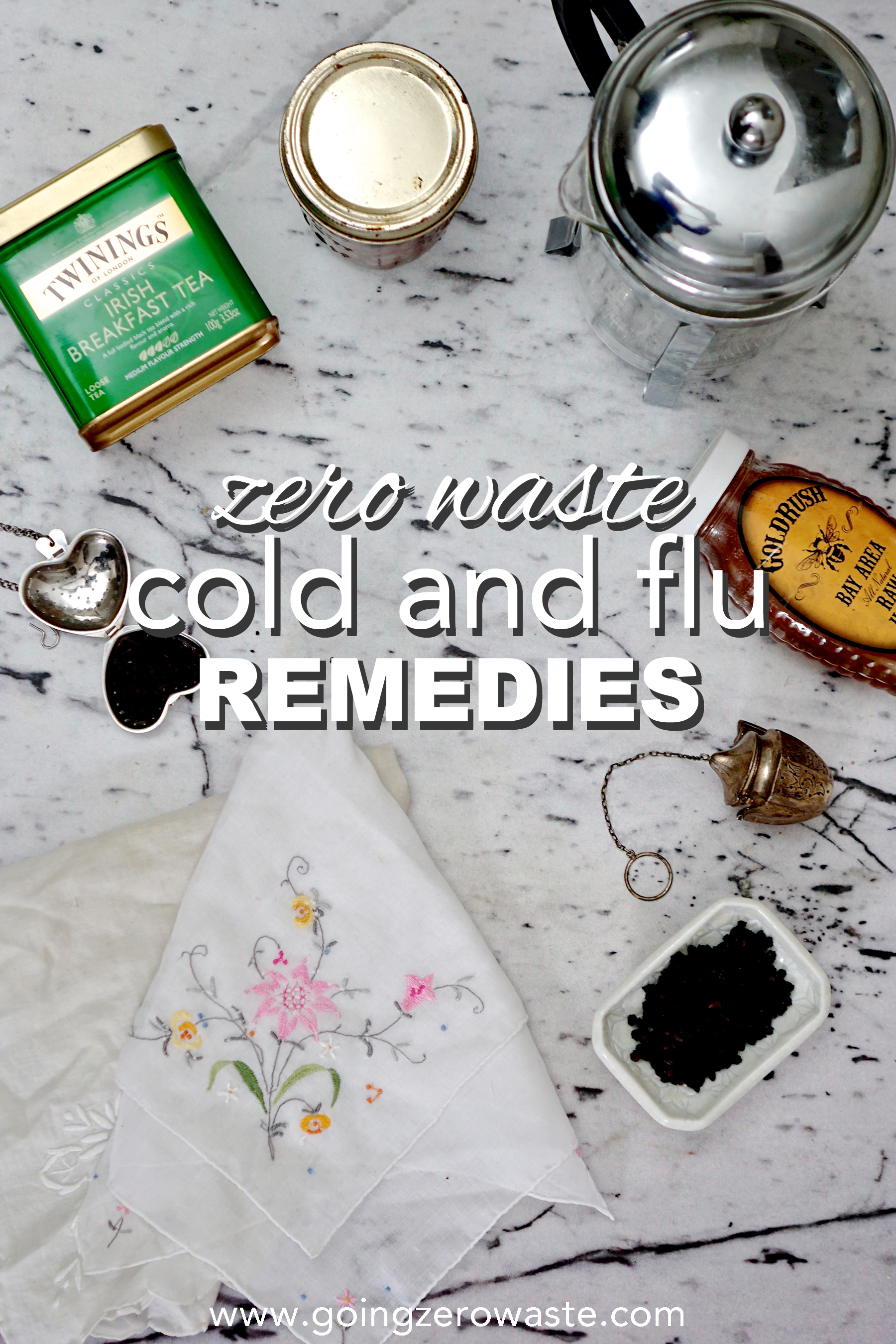 Zero waste cold and flu remedies from www.goingzerowaste.com