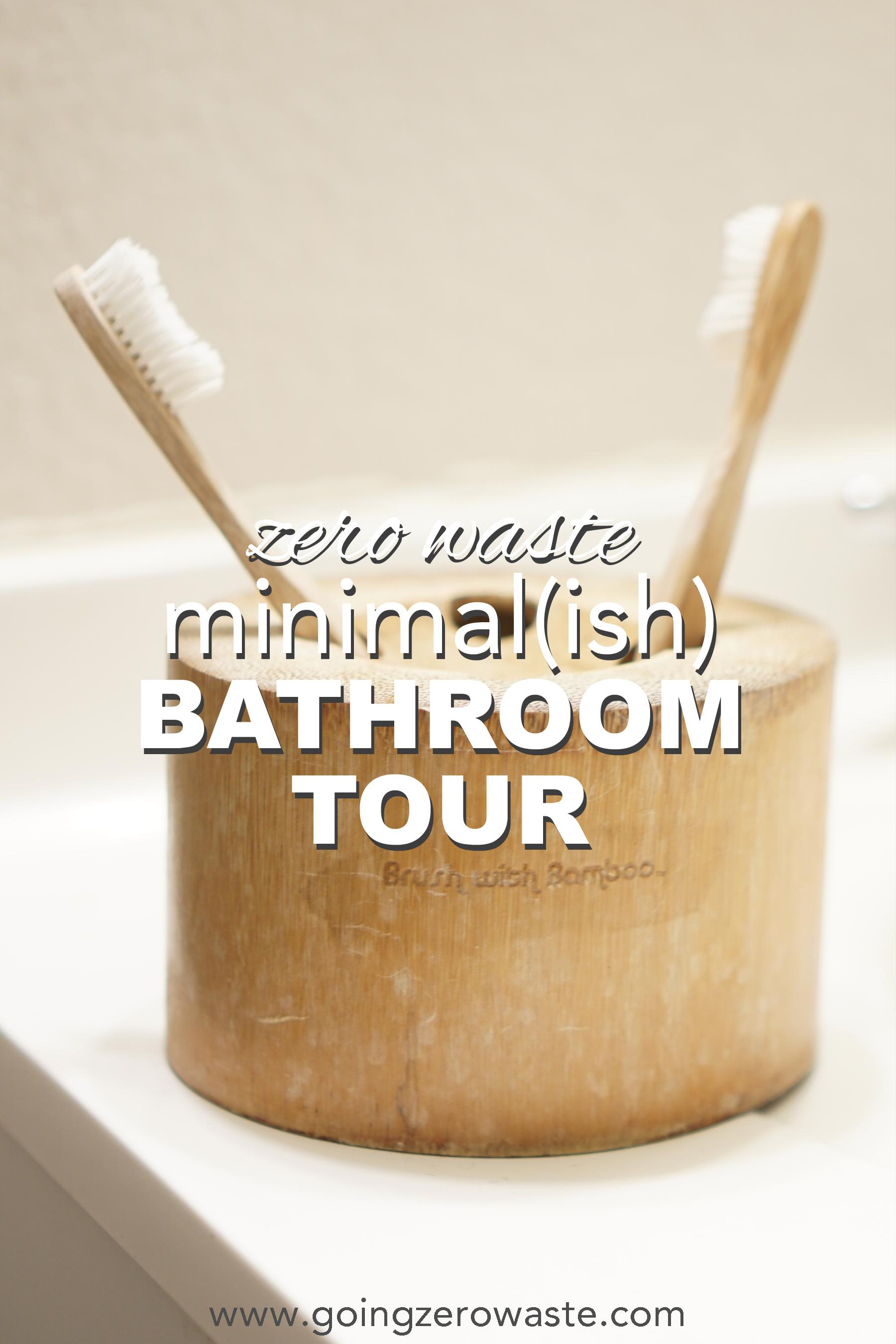 My minimal, zero waste bathroom tour from www.goingzerowaste.com