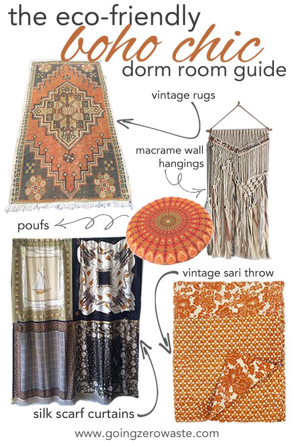 the eco friendly boho chic dorm room guide from www.goingzerowaste.com