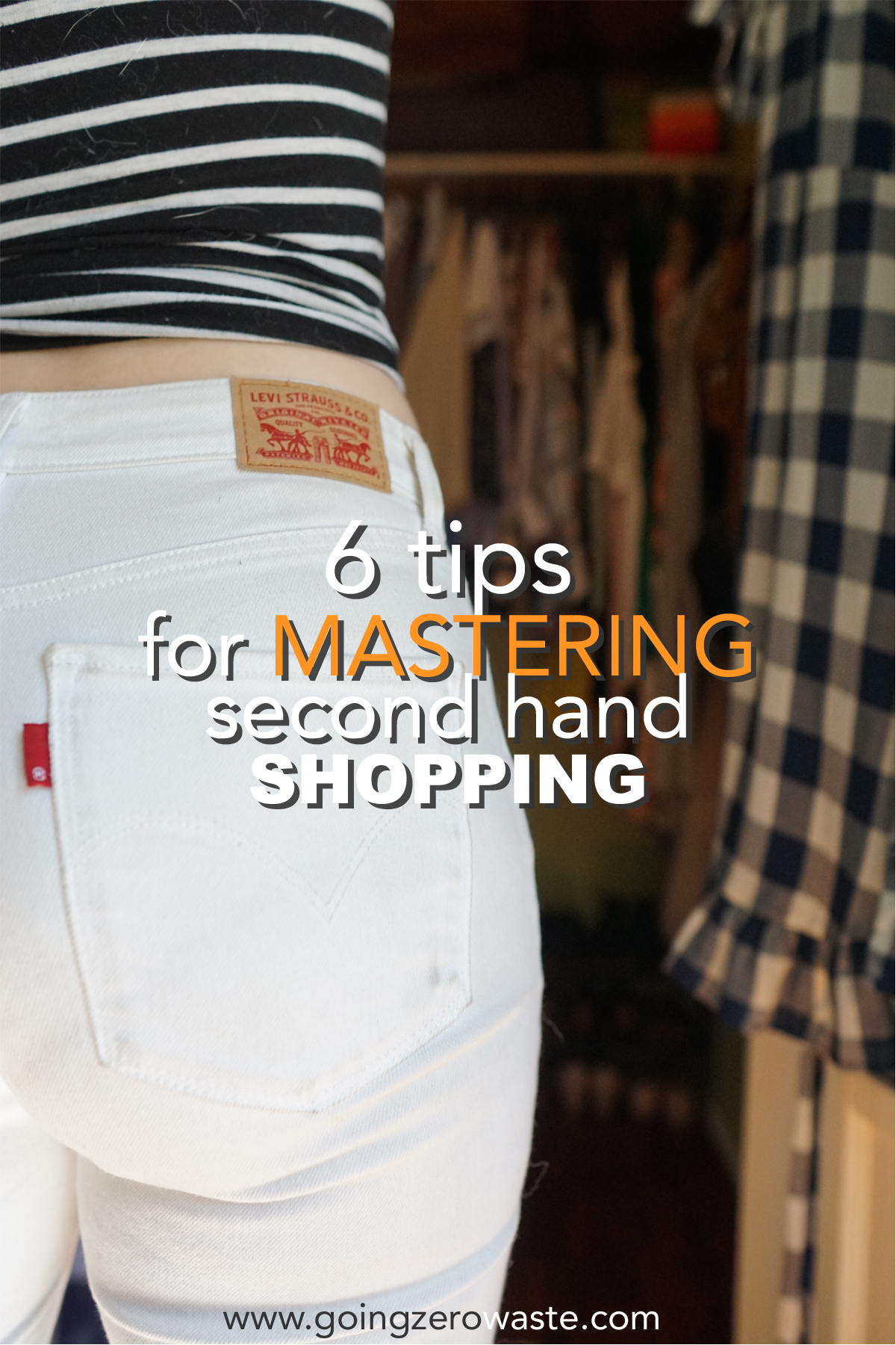 6 tips for mastering second hand shopping from www.goingzerowaste.com #zerowaste #secondhand #thrifting