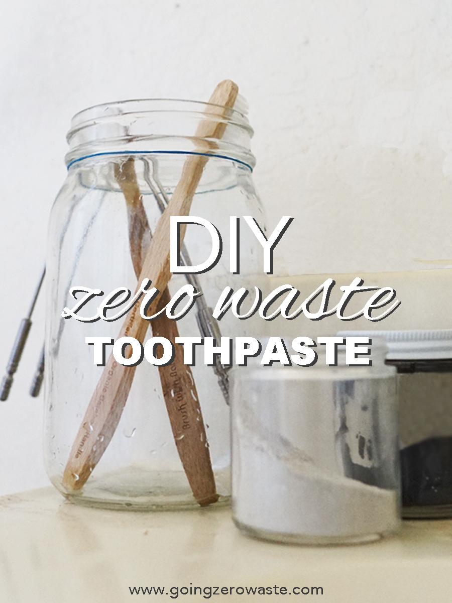 DIY, Zero Waste Toothpaste from www.goingzerowaste.com #toothpaste #zerowaste #DIY #allnatural