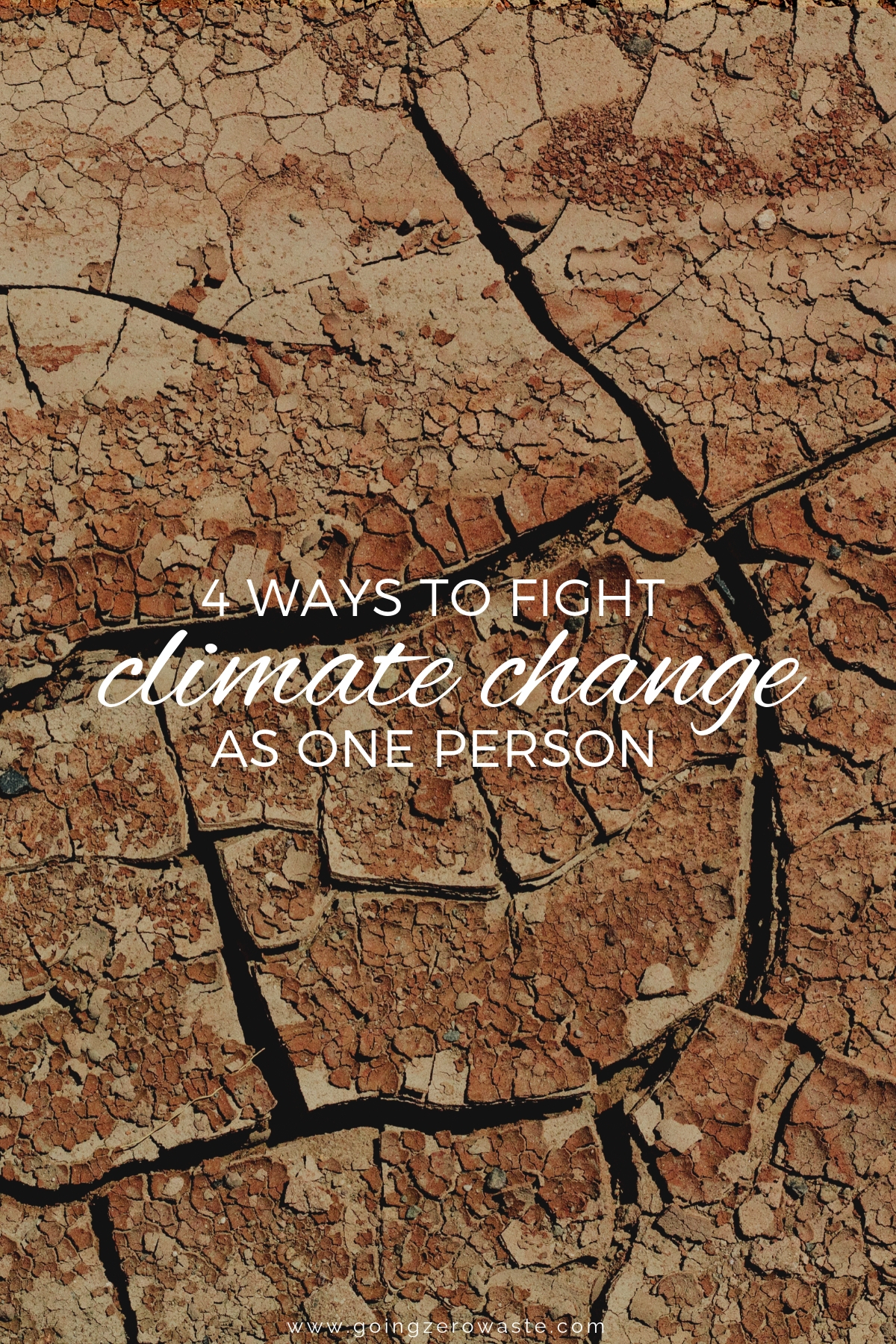 4 Ways to Fight Climate Change as One Person from www.goingzerowaste.com #climatechange #ecofriendly #gogreen #zerowaste