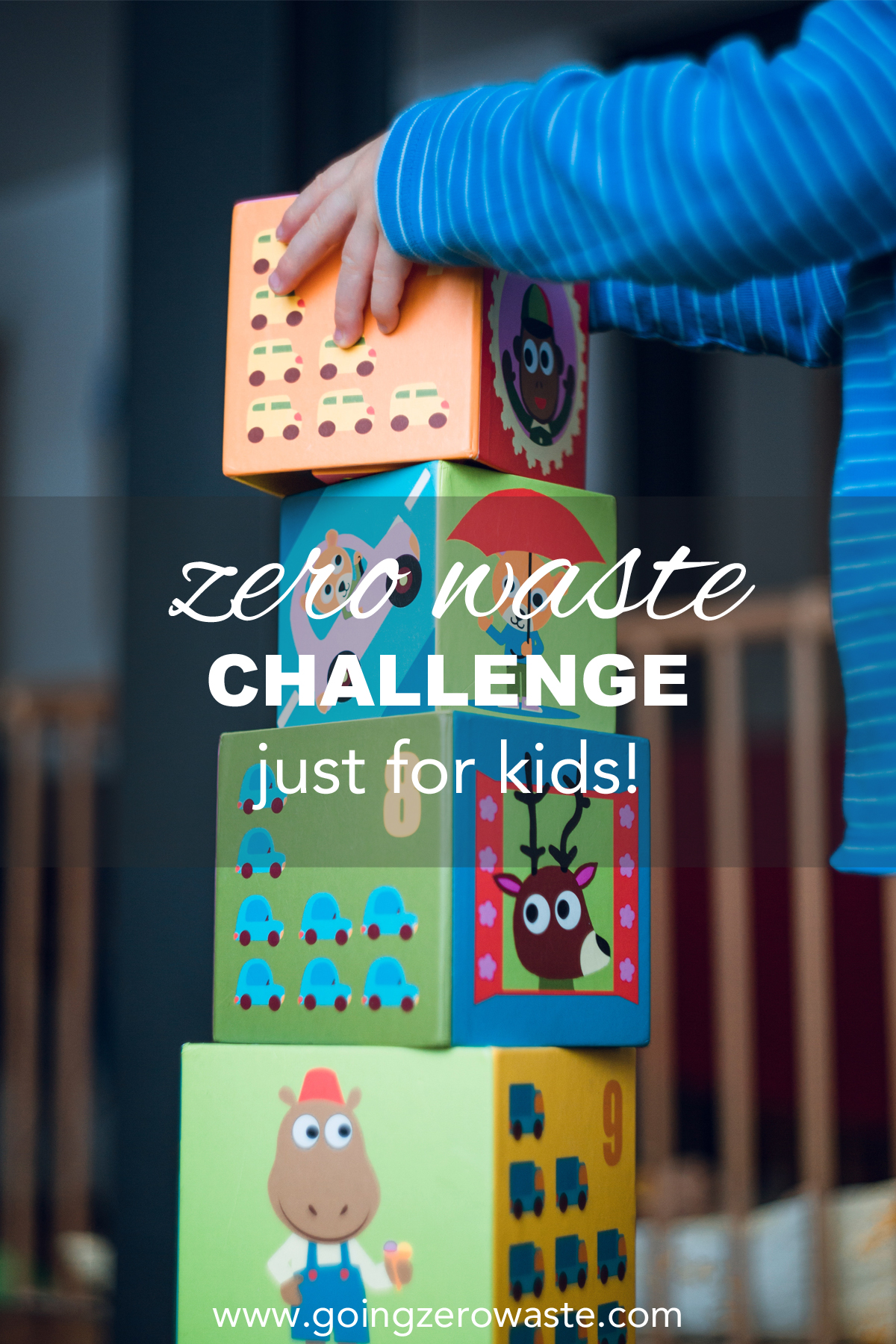The zero waste challenge just for kids! from www.goingzerowaste.com #zerowaste #ecofriendly #gogreen #simpleliving