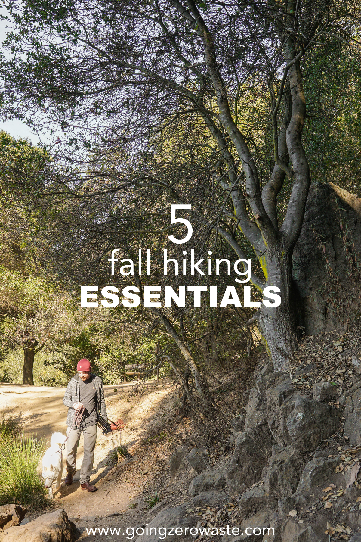 Five fall hiking essentials from www.goingzerowaste.com #hiking #fall