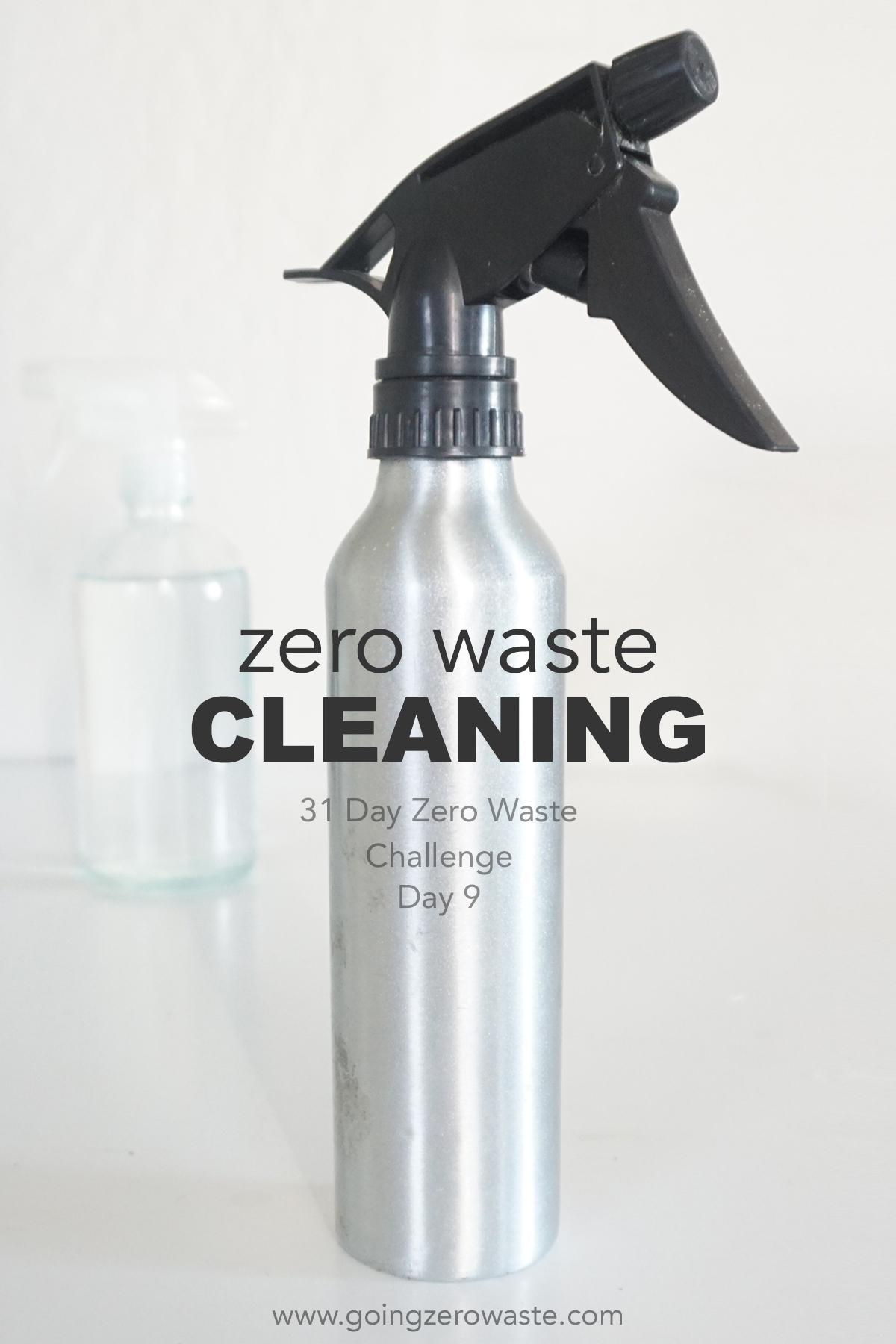 Zero waste cleaning from www.goingzerowaste.com #zerowaste #cleaning #zerowastechallenge