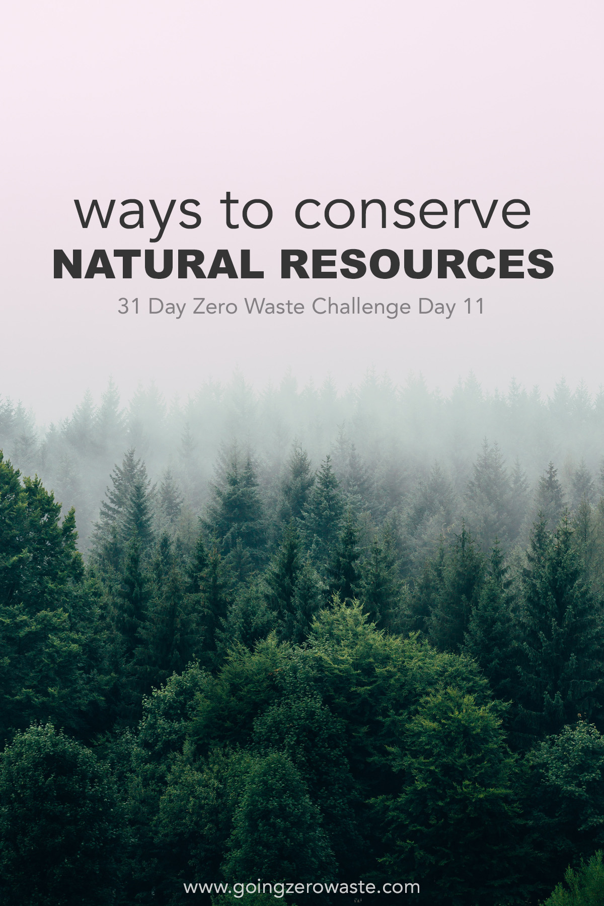 Ways to Conserve our Natural Resources Day 11 of the Zero Waste Challenge from www.goingzerowaste.com #conserve #ecofriendly #zerowaste #zerowastechallenge