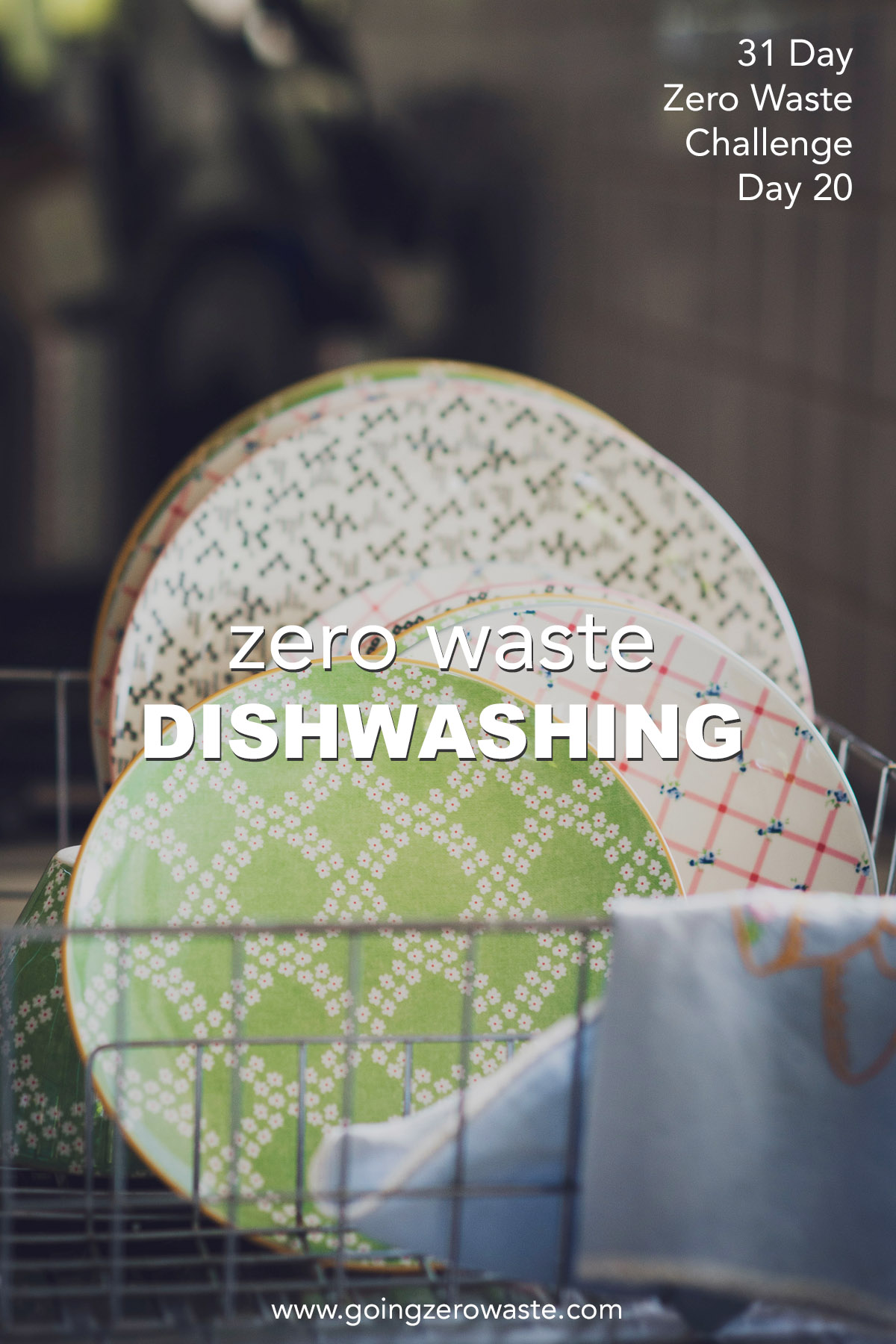 zero waste dishwashing from day 20 of the zero waste challenge from www.goingzerowaste.com #zerowaste #dishwashing #zerowastechallenge