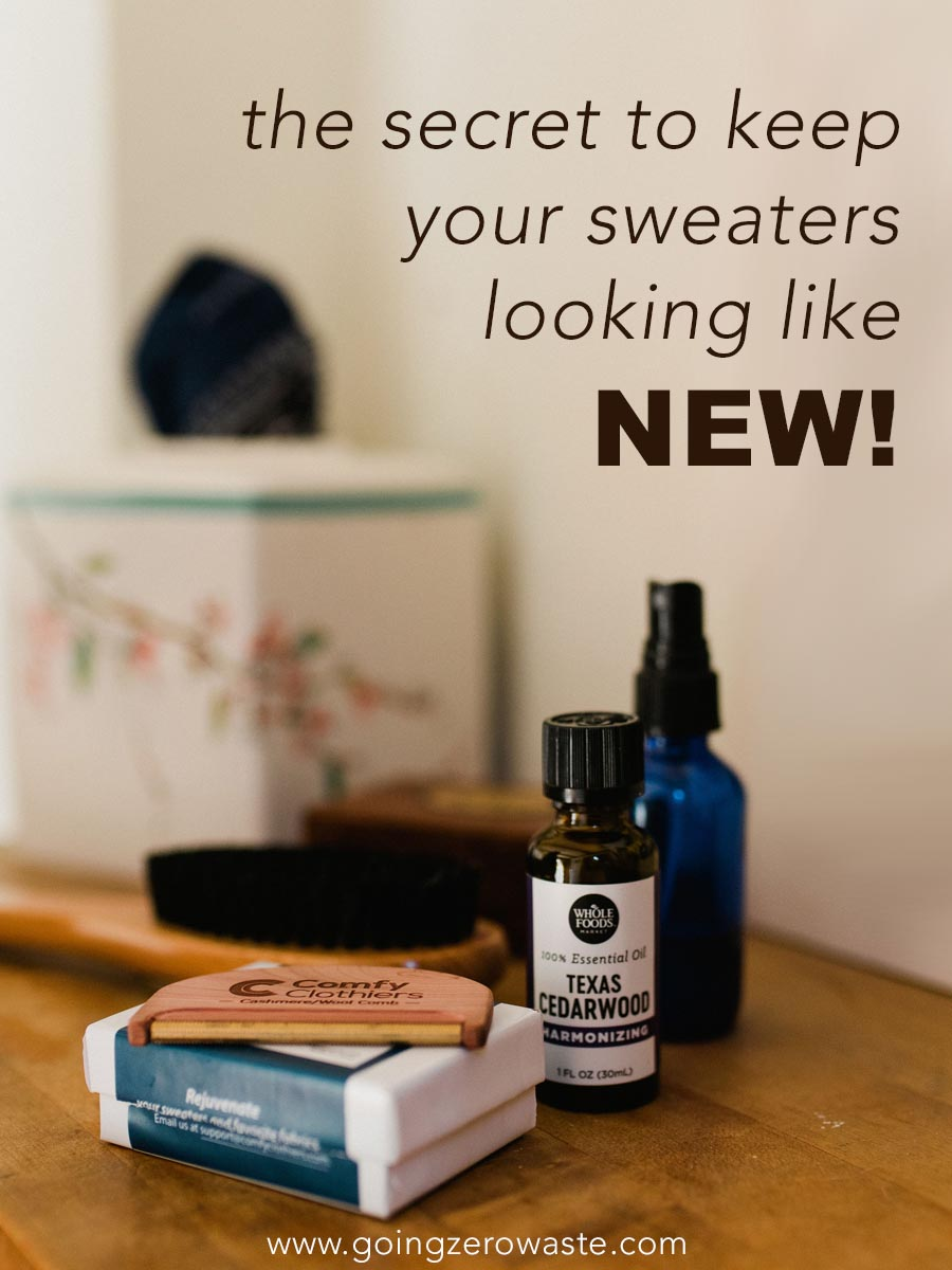 How to take care of your sweaters from www.goingzerowaste.com #sweatercare #ecofriendly #ethicalfashion #slowfashion #sweaters #cleaning #zerowaste