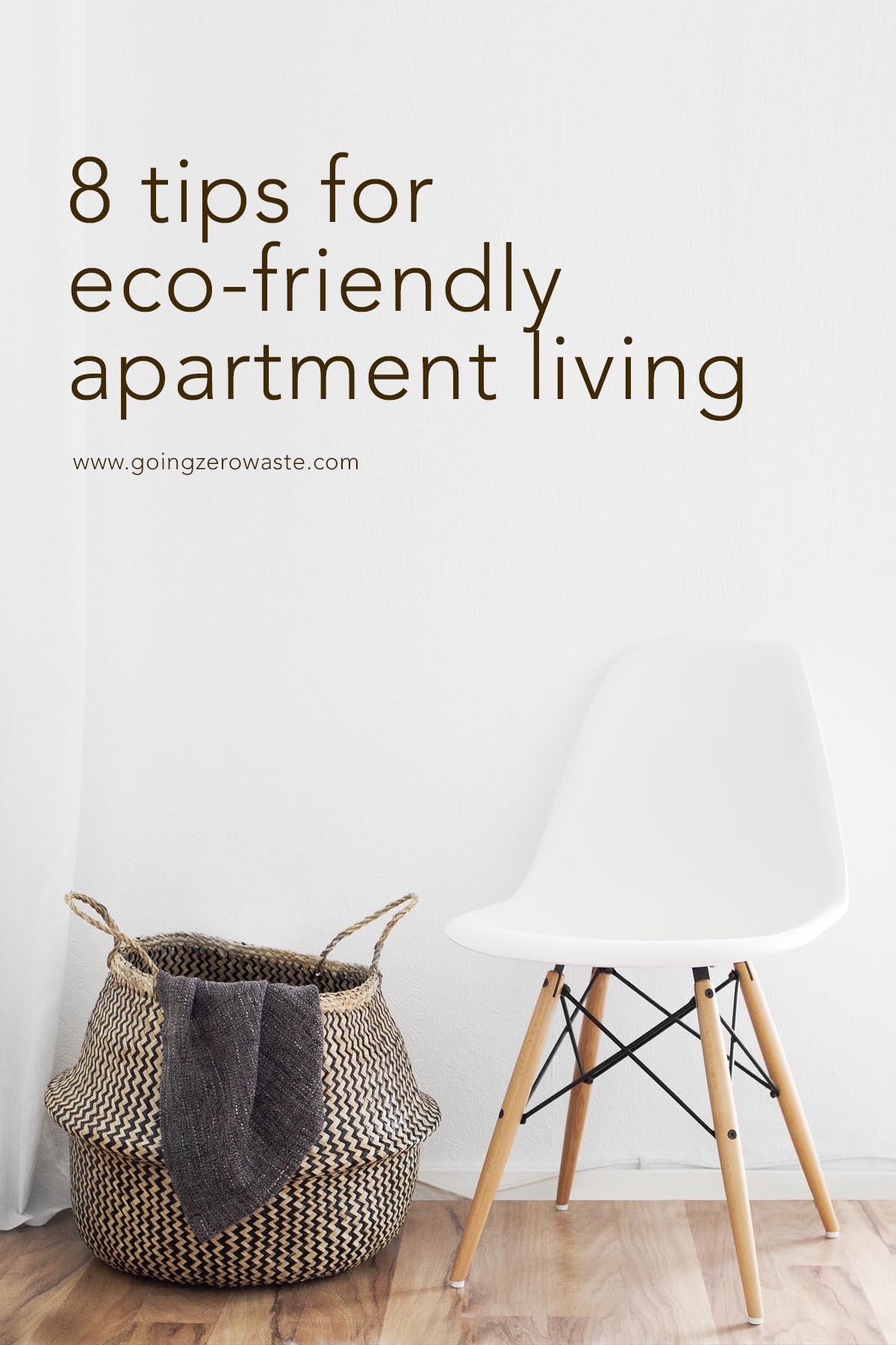8 tips for eco-friendly apartment living from www.goingzerowaste.com #ecofriendly #apartment #sustainable #apartmentliving