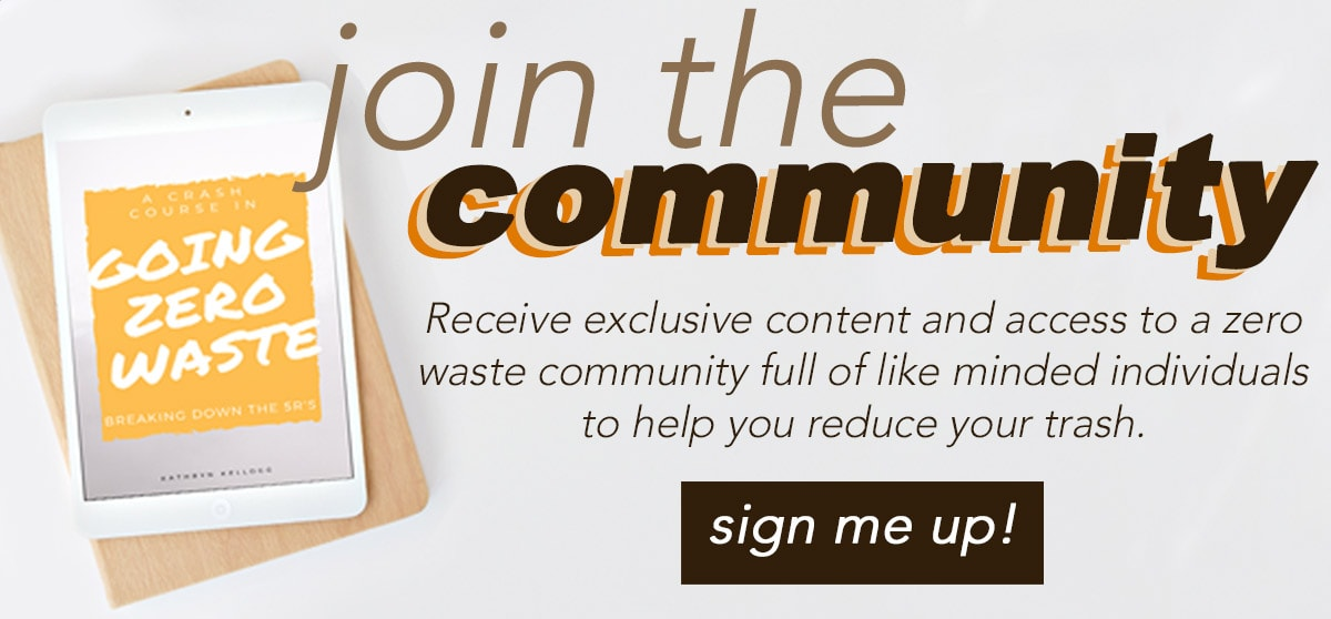 Join an eco-friendly and zero waste community for free!