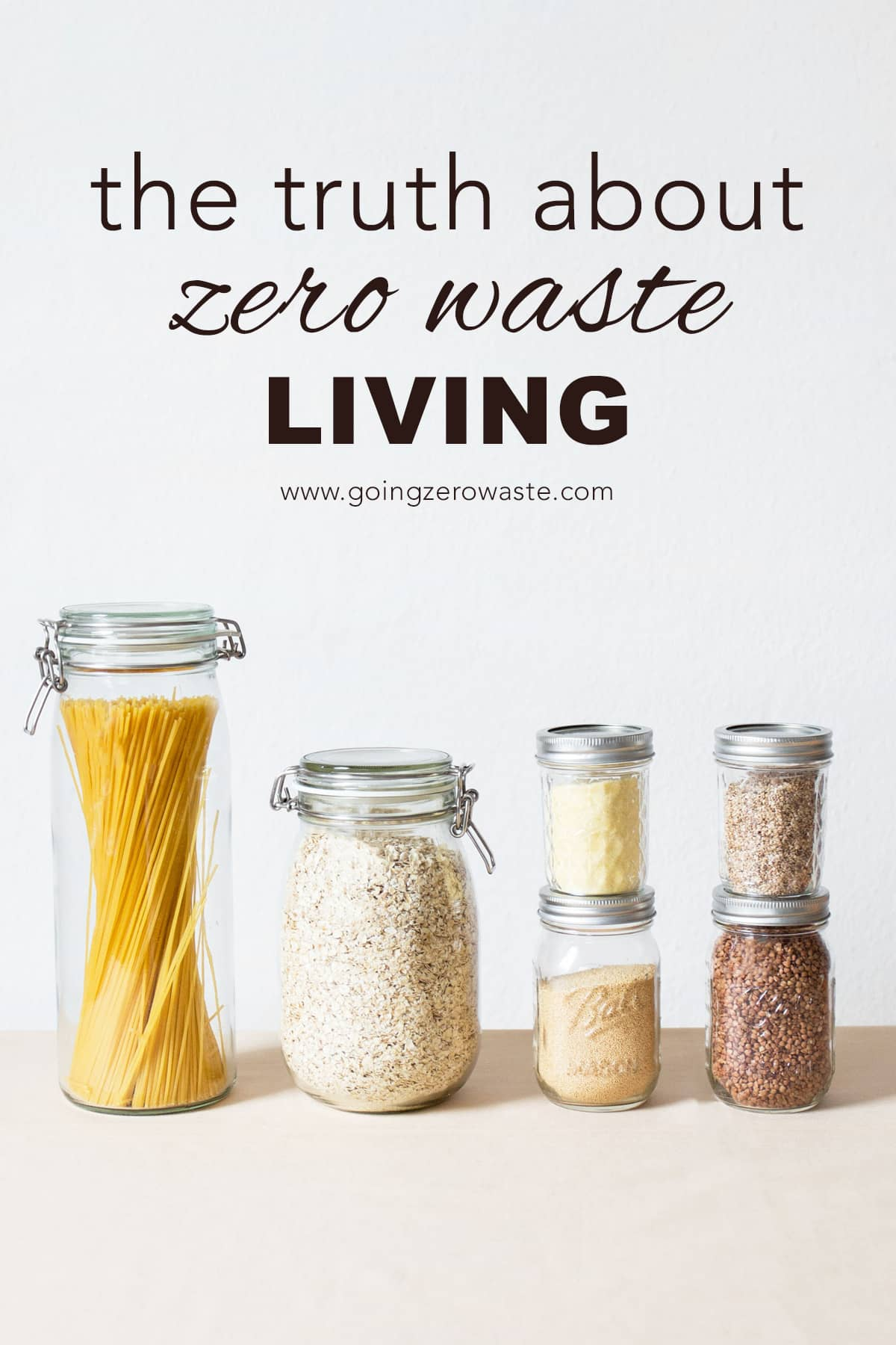 The truth about zero waste living from www.goingzerowaste.com #zerowaste #ecofriendly #thethingstheydonttellyou #gogreen