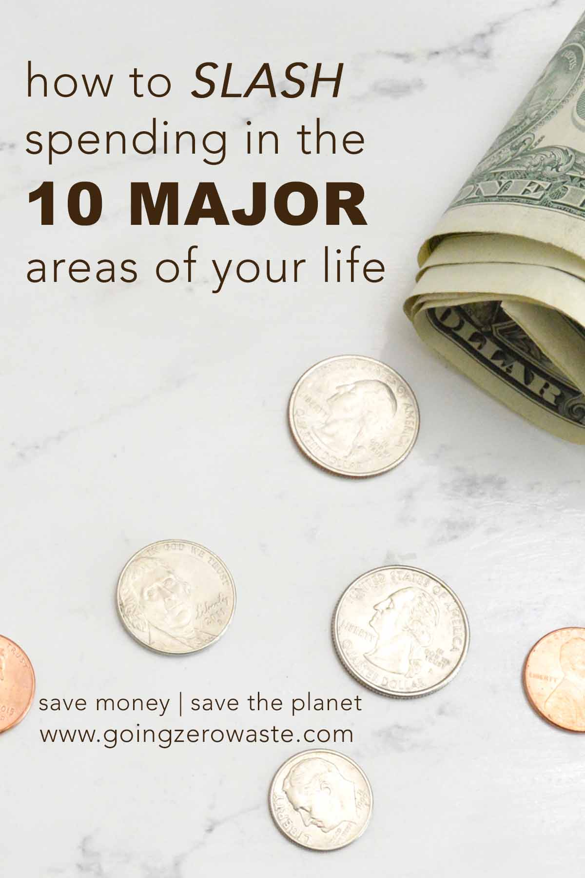 10 Ways to Save money and the planet from www.goingzerowaste.com #ecofriendly #zerowaste #sustainableliving #savemoney #frugal #simpleliving